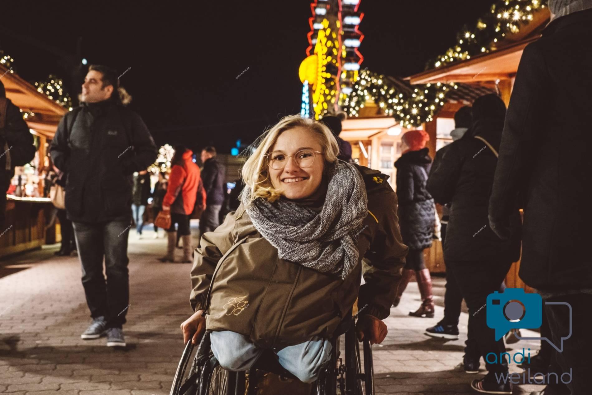 Andi Weiland Rollstuhl, Glühwein und Weihnachtsmarkt